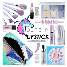 """Holopurple"" by cynthia6 ❤ liked on Polyvore featuring beauty, Forever 21, Cover FX, Lime Crime, MILK MAKEUP, Anastasia Beverly Hills and MAC Cosmetics"