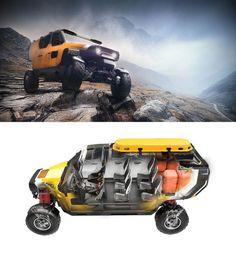 2sympleks – SURGO 4X4 Mountain Rescue Vehicle #cardesign #design #car #rescue #transport #transportdesign #concept #vehicle #mountain