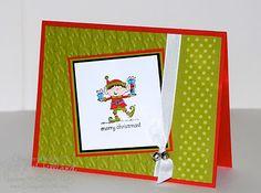 Jill's Card Creations: November 2011. Elf Christmas card.