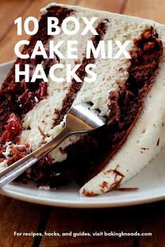 10 Box Cake Mix Hacks (How to Improve a Boxed Cake Mix) - Baking Kneads, LLC While we all aspire to be professional bakers who bake everything from scratch, sometimes it's ju Recipes Using Cake Mix, Box Cake Recipes, Baking Recipes, Dessert Recipes, Spice Cake Mix Recipes, Baking Tips, Cake Mix Desserts, Cake Mix Cookies, Just Desserts