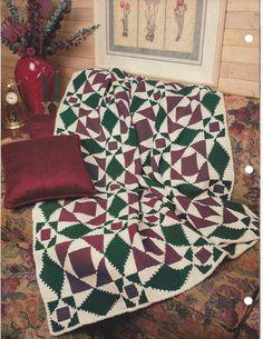 ☸ Tempestade no mar Crochetar Coberta acolchoada Malha itens decorativos Criações - /  ☸ Storm At Sea Crochet Quilt Knit Knacks Creations -                                                                                                                                                                                 Mais