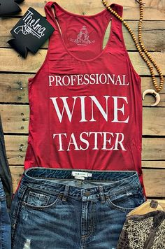 Professional Wine Taster Tank - Burgundy $22.99! #southernfriedchics