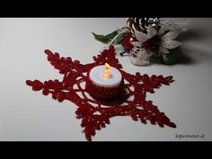 Tutorial candela Natalizia Amigurumi | How to crochet a christmas candle - YouTube Christmas Candle Decorations, Christmas Candle Holders, Christmas Candles, Christmas Coasters, Christmas Snowflakes, Christmas Ornaments, Christmas Trees, Crochet Tree, Crochet Ornaments