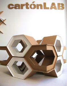 Modular geometric cardboard structure | cartonLAB