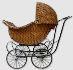 Victorian Wicker Baby Buggy Baby Carriage Baby Buggy