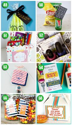 Cute and easy teacher appreciation gift ideas!