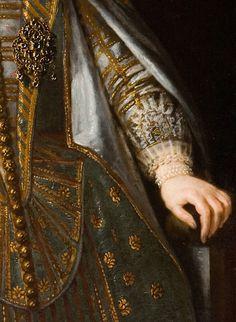 Portrait of a Medici Princess (detail), by Justus Sustermans (Belgian, 1597–1681)