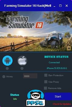 Farming Simulator 16 Hack here you will find the cheat do generate unlimited money for farming simulator and the hack is undetected