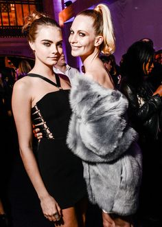 Cara Delevingne and Poppy Delevingne at Topshop's store-opening celebration in Grand Central.