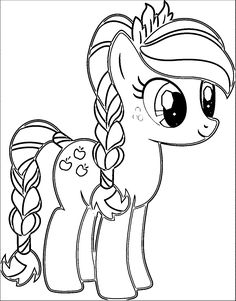 Pony Cartoon My Little Coloring Page 003