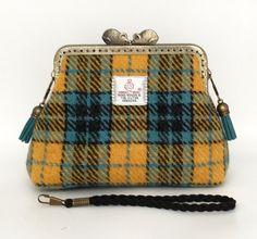 Harris Tweed Clutch Bag / Makeup Bag by TweedStop on Etsy