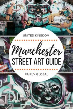 Manchester is one of the best cities to find street art in England. This guide will tell you where you should head to find the most beautiful graffiti, murals and wall paintings. Travel in Europe. Europe Travel Tips, Travel Advice, Travel Guides, Travel Destinations, Travel Info, Manchester City, Manchester England, Scotland Travel, Ireland Travel