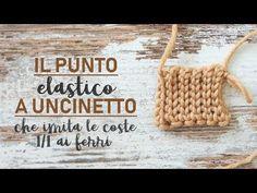 Lo sai, l'ho già detto che amo tantissimo l'aspetto dei punti fatti con la maglia ai ferri ma odio cordialmente... Sewing Stitches, Crochet Stitches, Crochet Patterns, Tunisian Crochet, Irish Crochet, Love Crochet, Knit Crochet, Crochet Tops, Crochet Videos