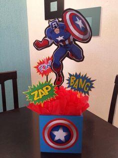 Capitán América Birthday Themes For Boys, 1st Boy Birthday, 4th Birthday Parties, Captain America Party, Captain America Birthday, Avengers Birthday, Superhero Birthday Party, Avengers Party Decorations, Hippie Birthday