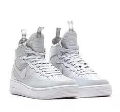 premium selection 4b52c 10ee4 Nike Air Force 1 Ultraforce Mid Top Men s Shoes Sz 13 Pure Platinum 864014  002  fashion  clothing  shoes  accessories  mensshoes  athleticshoes  ad  (ebay ...