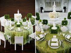 #green #white #weddi