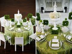 #green #white #weddi