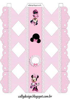 Risultati immagini per Caixa de Bala Mickey Mouse template Girl Birthday Themes, Kids Party Themes, Pink Birthday, Mickey Mouse Birthday, Mickey Minnie Mouse, Minnie Mouse Party Decorations, Mouse Parties, Easy Christmas Crafts, Simple Christmas