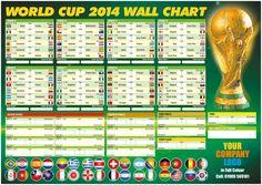 FIFA WORLD CUP 2014 BRASIL WALL CHART