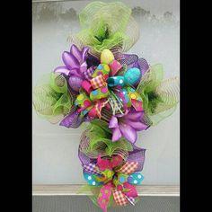 Burlap Cross Wreath Deco Mesh By ADelightfulDoor