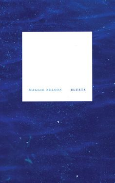 Maggie Nelson's Bluets. An absolute revelation & probably the best book I will read in 2013.