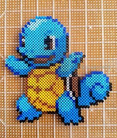Squirtle Pokemon perler fuse beads by christoperler More