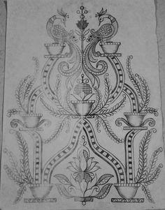 Pin by yogesh raj artist on embroidery design's Peacock Embroidery Designs, Border Embroidery Designs, Embroidery Suits Design, Embroidery Works, Embroidery Motifs, Carving Designs, Stencil Designs, Designs To Draw, Diy Bag Painting