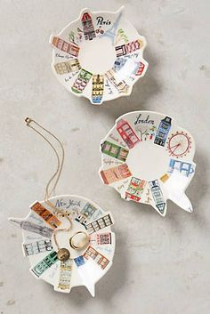 These Danielle Kroll Ceramic Skyline Trinket Dishes are so cute for dropping jewelry in. Best Christmas Gifts, Christmas Fun, Holiday Gifts, Holiday Decor, Handmade Christmas, Best Secret Santa Gifts, Cerámica Ideas, Gift Ideas, Whimsical Fashion