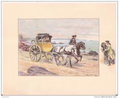 """""""LA VOITURE à TRAVERS LES AGES"""" 10 Aquarelles Inédites  D´Alphonse Lalauze.  Collection Artistique Des Laboratoires  N&S - Old Paper"""