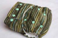 Crystal~ OS Pocket Diaper *Knit with Two Bamboo Fleece Soakers by 4ward Thinking Cloth Diapers