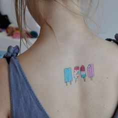 Designy Temporary Tattoos: popsicles