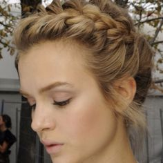 EXPERT TIP: Work some mousse or gel into your hair when you blowdry to allow your braid to stay in place