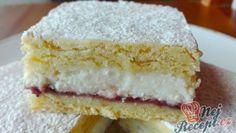 Sypané tvarohové řezy se zakysankou – RECETIMA Sweet Desserts, Dessert Recipes, Oreo Cupcakes, Aesthetic Food, Vanilla Cake, Nutella, Sweet Tooth, Cheesecake, Good Food