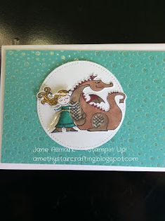 Stampin Up Magical Day, Daenerys and Drogon, Game of Thrones, How to turn a mermaid into a damsel