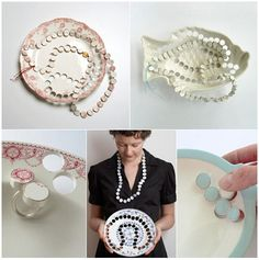 Recycling dishes into jewel!