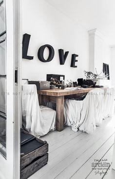 Love loft black white