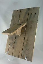 Handmade Rustic Reclaimed Lumber Plaque Deer or Antelope European Skull Mount