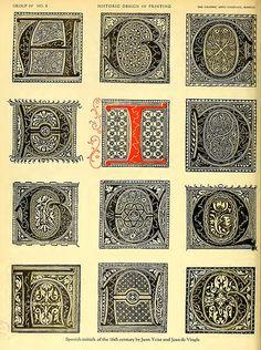 20- Iniciales españolas del siglo XVI de Juan Iciar y Juan de Vingle