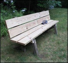 Our Completed Garden Bench