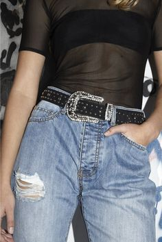 RHINESTONE BELT - BELTS - ACCESSORIES | Stolen Girlfriends Club