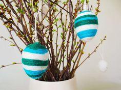 DIY Easter : DIY – Yarn wrapped Easter eggs