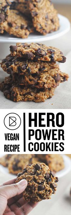 These vegan cookies make a great grab and go snack. They are somewhere between a granola bar and a cookie.  http://theblenderist.com/hero-power-cookies/