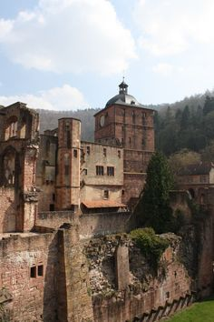 Heidelberg Castle -The castle ruins are among the most important Renaissance structures north of the Alps - Germany