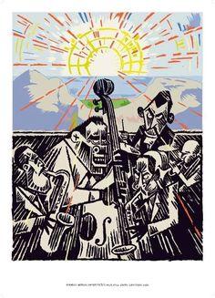 Lars Fiske: Mingus i Aulaen, plakat, signert via No Comprendo Press. Click on the image to see more!