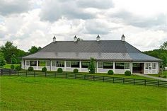 Nice covered arena with ability to open/close for air circulation. With mirrors of course ! Dream Stables, Dream Barn, Horse Stables, Horse Farms, Equestrian Stables, Horse Arena, My Horse, Horses, Indoor Arena