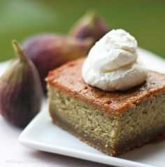 Fresh Fig Cake with Fig Preserves