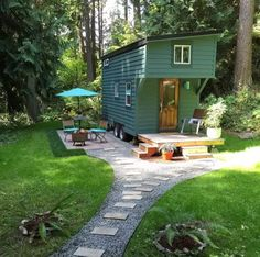 This is a 144 sq. ft. tiny housein Guemes Island, WA. And if you've ever wanted to test drive tiny house living pack your bags because this tiny house is available to rent on Airbnband itlooks l...