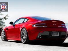Aston Martin Vantage riding on HRE Wheels.