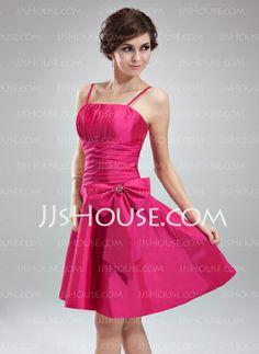 Homecoming Dresses - $109.99 - A-Line/Princess Knee-Length Taffeta Homecoming Dress With Ruffle Beading (022010543) http://jjshouse.com/A-Line-Princess-Knee-Length-Taffeta-Homecoming-Dress-With-Ruffle-Beading-022010543-g10543