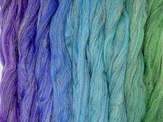 Forest Floor Gradient Pack of blended wool tops. This gradient has been created to make a seamless transition from one colour to the next. Seamless Transition, One Color, Spinning, Packing, Collection, Hand Spinning, Bag Packaging, Indoor Cycling
